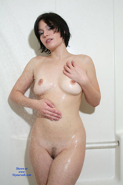 Hairy milf wife in soapy shower