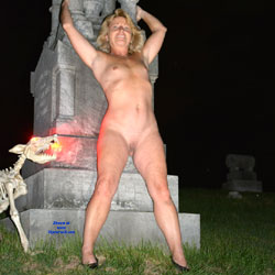 Halloween Fun Part 2 - Shaved, Outdoors, Blonde, Small Tits