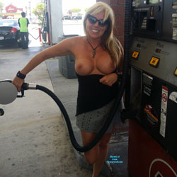 Naked Always - Public Exhibitionist, MILF, Flashing, Blonde, Big Tits, Public Place