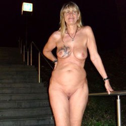 Fotoluder Regi Regina Schulte aus Halver  - Public Exhibitionist, Mature, European And/or Ethnic, Blonde, Big Tits, Public Place, Tattoos