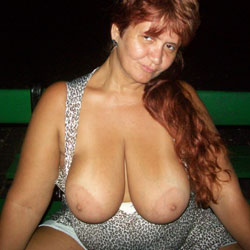 Mais Da Cigana Pra Vcs - Big Tits, Flashing, Public Exhibitionist, Public Place, Redhead, Bush Or Hairy