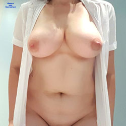 Unbuttoned Shirt  - Big Tits, Shaved