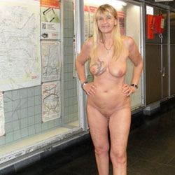 Regina Schulte 52 Jeahrs  - Shaved, Public Place, Public Exhibitionist, Mature, Blonde, Big Tits, Tattoos