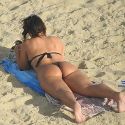 Black Bikini From Recife City, Brazil 02 - Beach Voyeur, Bikini Voyeur, Brunette