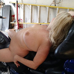 Babe On A Bike - Big Tits, Blonde