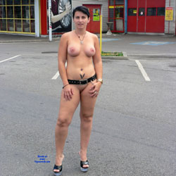 I Always Like To Go Nude 3 - Public Place, Flashing, Public Exhibitionist, Brunette, Big Tits, Tattoos