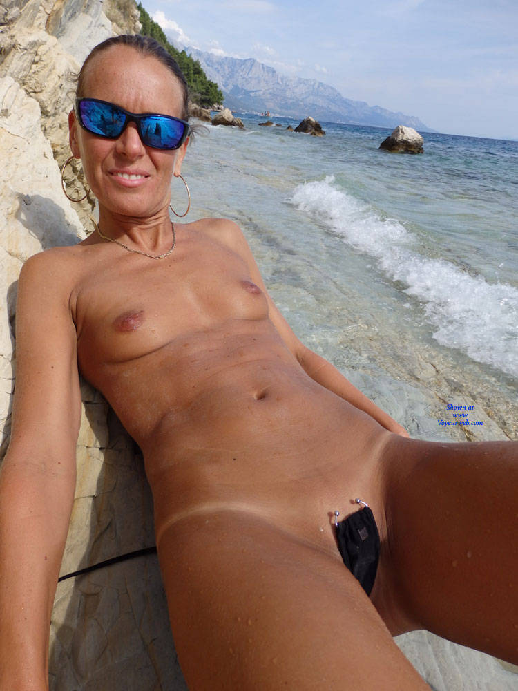Pic #1 Mimice - Wife/wives, Small Tits, Outdoors, Beach, Shaved