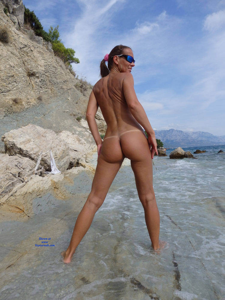 Pic #5 Mimice - Wife/wives, Small Tits, Outdoors, Beach, Shaved