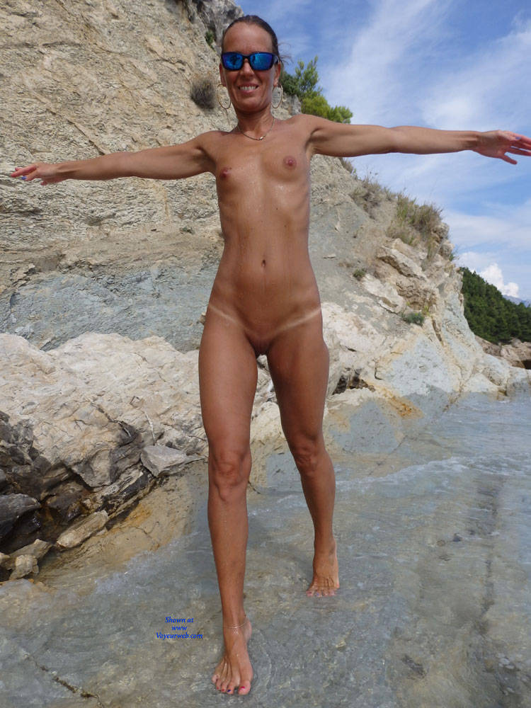 Pic #4 Mimice - Wife/wives, Small Tits, Outdoors, Beach, Shaved