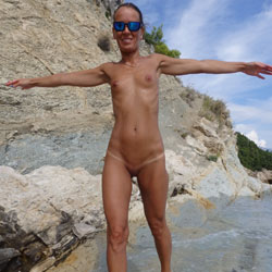 Mimice - Wife/Wives, Small Tits, Outdoors, Beach, Shaved