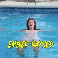 Ember In The Pool  - Shaved, See Through, Outdoors, Tattoos