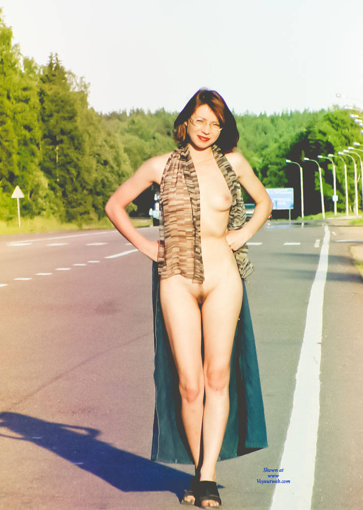 Pic #3 Highway Striptease - Public Exhibitionist, Flashing, Outdoors, Public Place