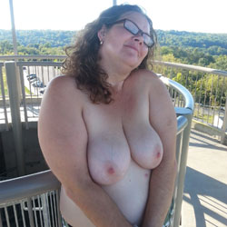 The Open Air - Brunette, Big Tits, BBW, Outdoors