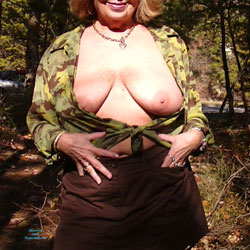 Out In Camo - Big Tits, Outdoors, Shaved, Nature