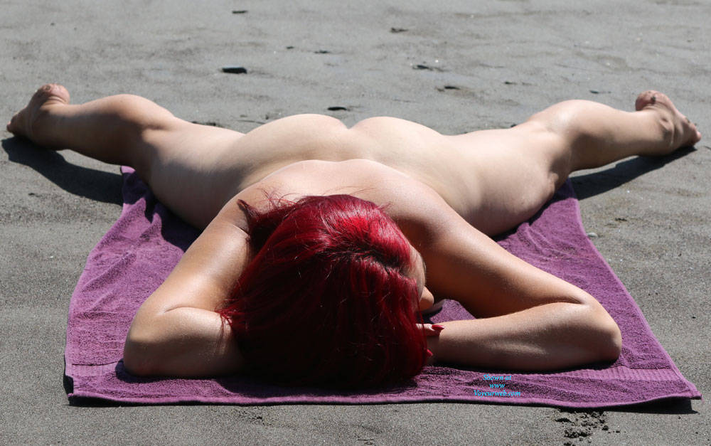 Pic #4 A Trip To The Beach - Beach, Outdoors, Redhead, Firm Ass