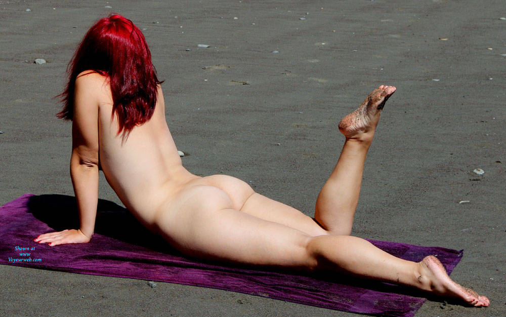 Pic #6 A Trip To The Beach - Beach, Outdoors, Redhead, Firm Ass
