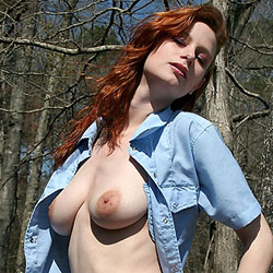 Cowboy Denim - Big Tits, Nude In Public, Nude Outdoors, Redhead, Shaved