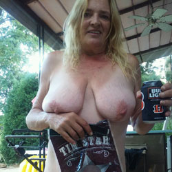 Backyard - Big Tits, Blonde, Mature, Wife/Wives