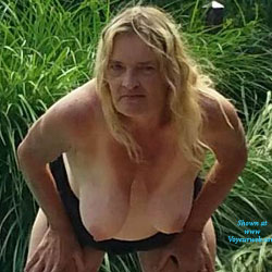 In The Yard - Outdoors, Mature, Blonde, Big Tits, Wife/Wives