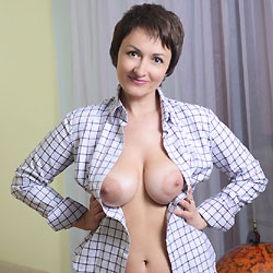 Sophia - Big Tits, Brunette, Lingerie, Shaved