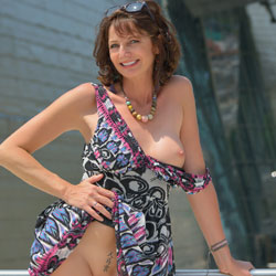 Short Hair Milf Showing Tattooed Pussy - Brunette Hair, Erect Nipples, Exposed In Public, Milf, Nipples, Nude In Public, Nude Outdoors, Perfect Tits, Shaved Pussy, Sunglasses, Tattoo, Sexy Legs