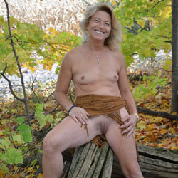 Part 2 Of Fall Colors - Blonde, Outdoors, Small Tits, Nature