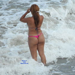 Pink Bikini From Recife City, Brazil - Outdoors, Bikini Voyeur, Beach Voyeur