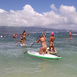 Mounting Long Boards - Outdoors, Bikini Voyeur, Beach Voyeur