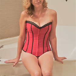 Red Corset - Lingerie, Wife/Wives