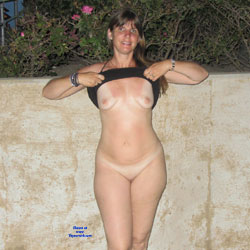 Little Walk - Brunette, Outdoors, Shaved, Medium Tits