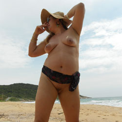 My Wife Nude Again - Beach, Big Tits, Outdoors, Wife/Wives, Bush Or Hairy