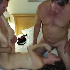 Having Fun With The Boys - Brunette, Blowjob, Group