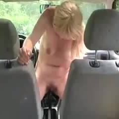 Enjoying Her New Car - Masturbation, Blonde, Big Tits, GF