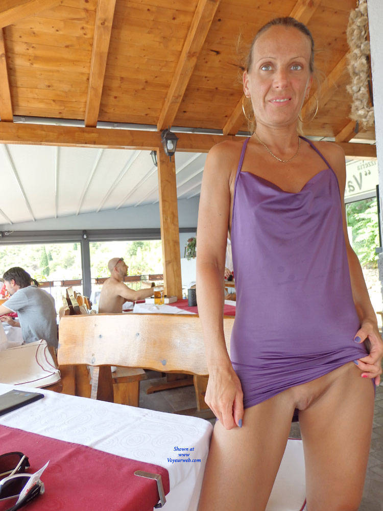 Pic #10 Mimice - Public Exhibitionist, Flashing, Outdoors, Public Place, Small Tits, Shaved, Firm Ass