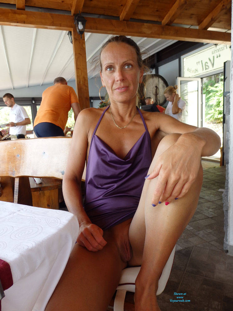 Pic #8 Mimice - Public Exhibitionist, Flashing, Outdoors, Public Place, Small Tits, Shaved, Firm Ass