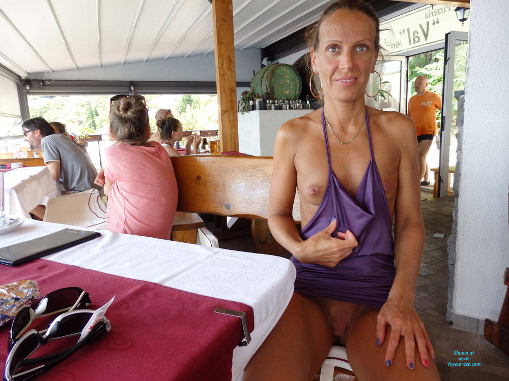Pic #2 Mimice - Public Exhibitionist, Flashing, Outdoors, Public Place, Small Tits, Shaved, Firm Ass