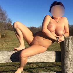 Autumn Day - Big Tits, Outdoors, Shaved