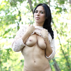 Alexa Poses Nude Outside - Big Tits, Brunette Hair, Hanging Tits, Naked Outdoors, Nude In Nature, Nude Outdoors, Pussy Lips, Shaved Pussy, Showing Tits, Sexy Ass, Sexy Body, Sexy Legs, Sexy Panties
