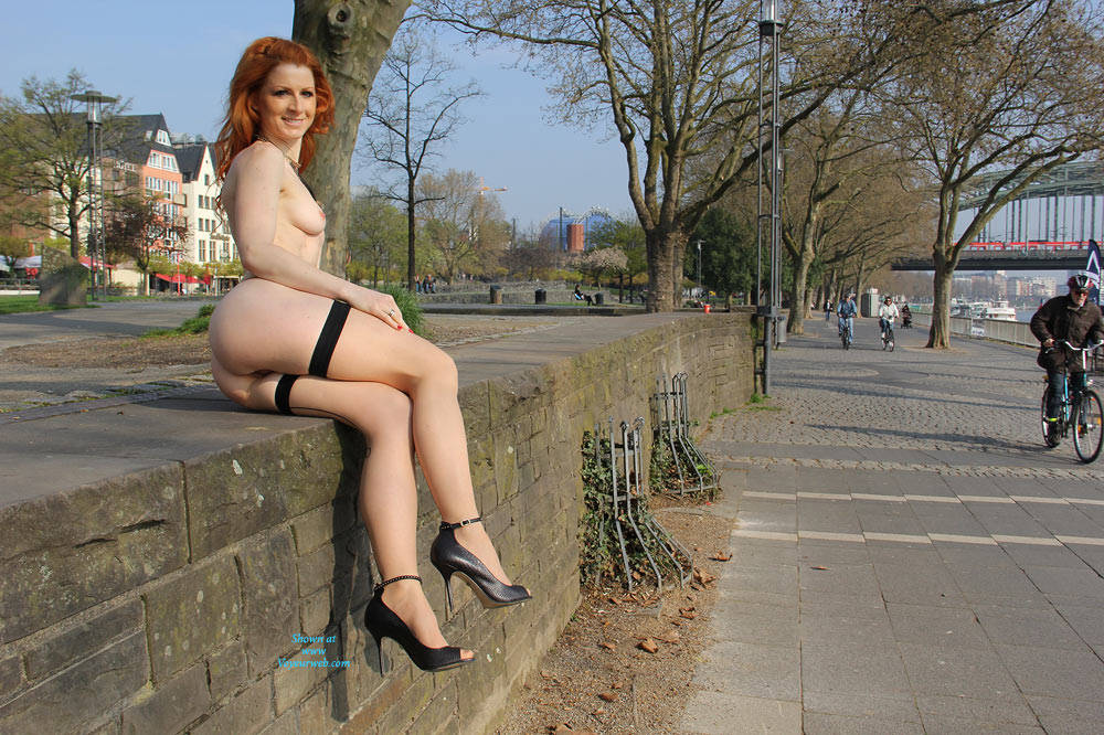 Pic #8 Vienna - Nude In Cologne  - Public Exhibitionist, Flashing, High Heels Amateurs, Public Place, Redhead, Shaved