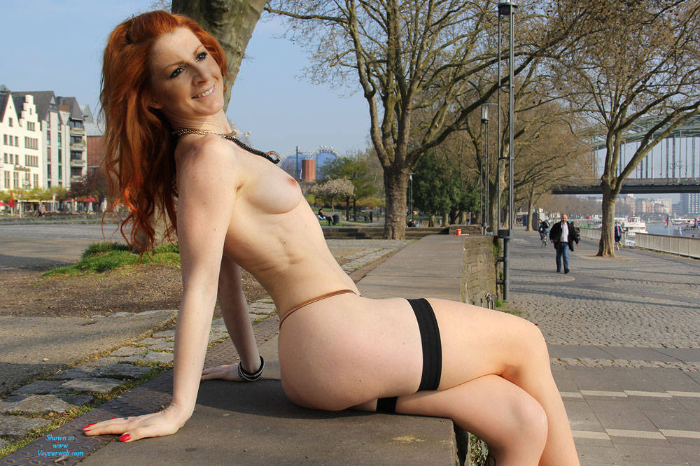 Pic #9 Vienna - Nude In Cologne  - Public Exhibitionist, Flashing, High Heels Amateurs, Public Place, Redhead, Shaved