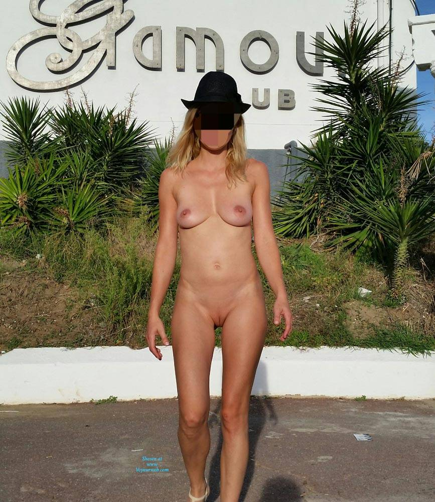 Pic #8 Enjoying Naked Pussy Around The Town - Big Tits, Blonde, Public Exhibitionist, Flashing, Public Place, Wife/wives, Shaved