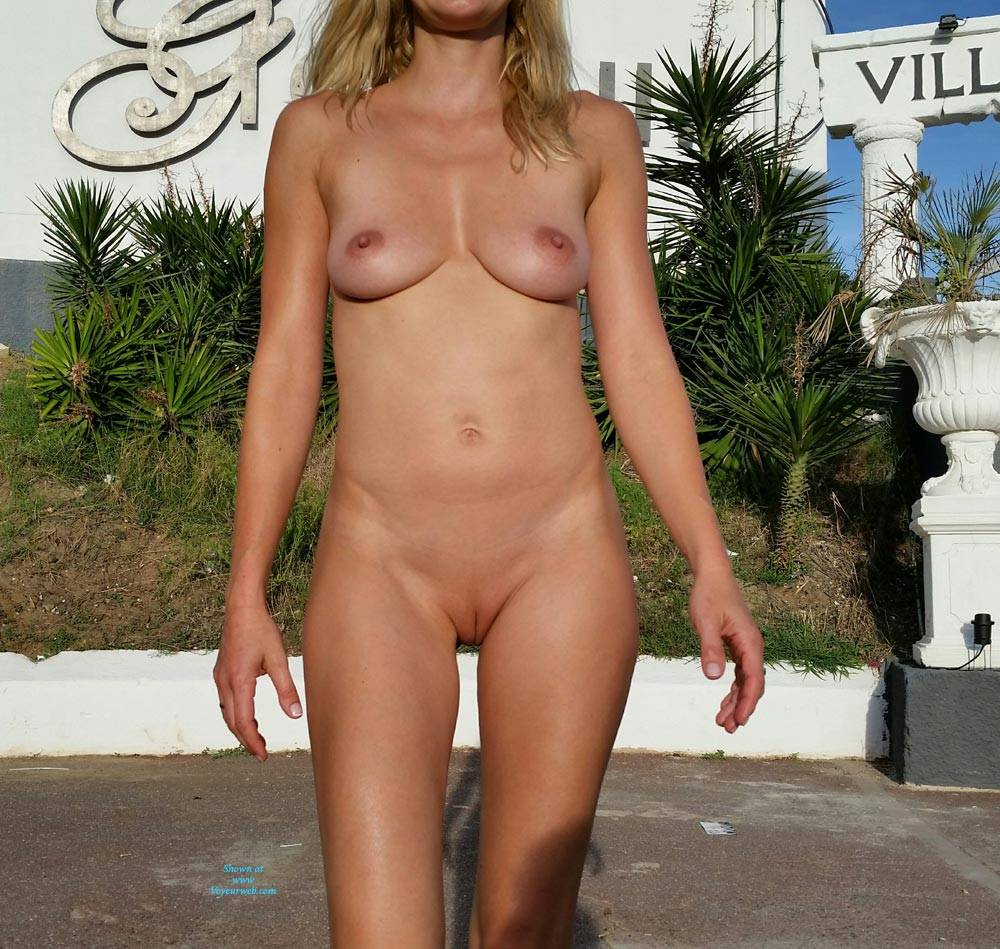 Pic #9 Enjoying Naked Pussy Around The Town - Big Tits, Blonde, Public Exhibitionist, Flashing, Public Place, Wife/wives, Shaved