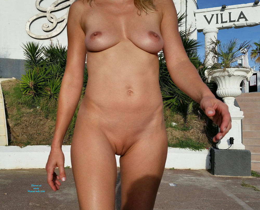 Pic #10 Enjoying Naked Pussy Around The Town - Big Tits, Blonde, Public Exhibitionist, Flashing, Public Place, Wife/wives, Shaved