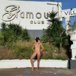 Pic #5 Enjoying Naked Pussy Around The Town - Big Tits, Blonde, Public Exhibitionist, Flashing, Public Place, Wife/wives, Shaved