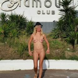 Pic #7 Enjoying Naked Pussy Around The Town - Big Tits, Blonde, Public Exhibitionist, Flashing, Public Place, Wife/wives, Shaved