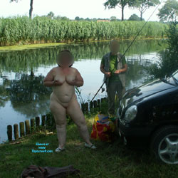 A Lonely Fisherman - BBW, Big Tits, Outdoors, Wife/Wives