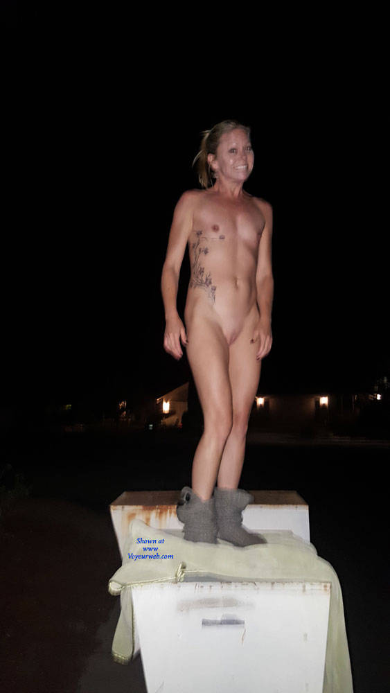 Pic #3 Blonde Gf - Public Place, Outdoors, Flashing, Public Exhibitionist, Blonde, Gf