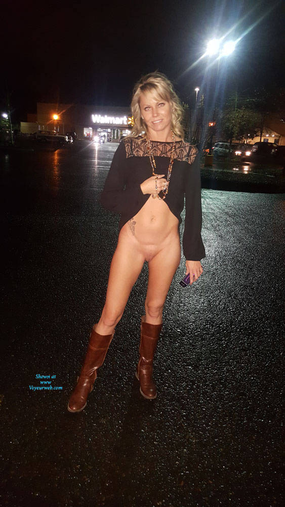 Pic #6 Blonde Gf - Public Place, Outdoors, Flashing, Public Exhibitionist, Blonde, Gf