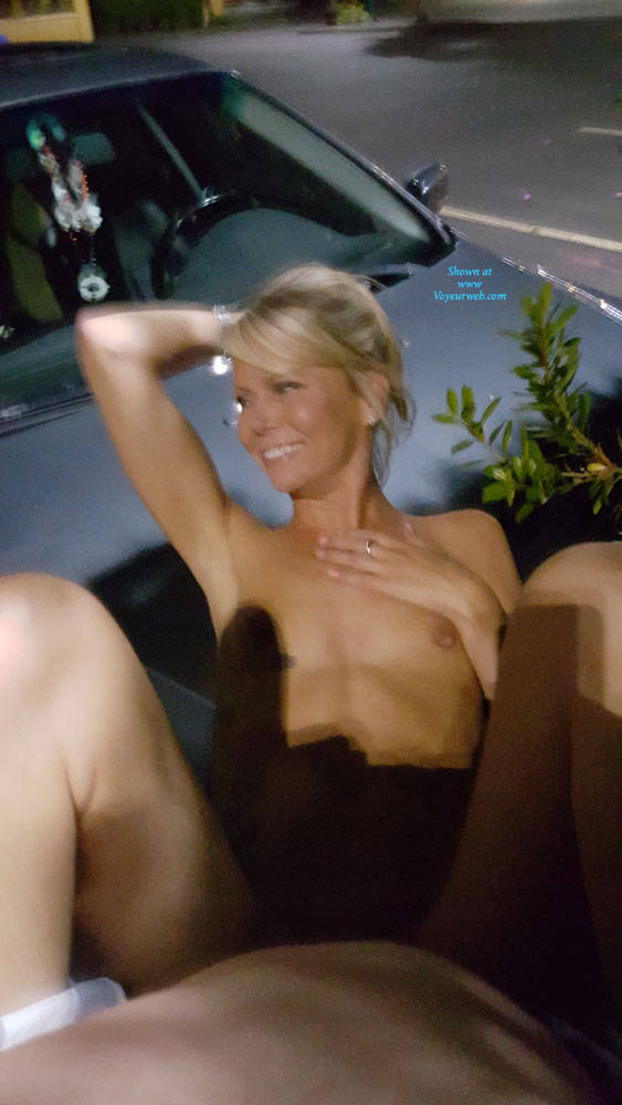 Pic #9 Blonde Gf - Public Place, Outdoors, Flashing, Public Exhibitionist, Blonde, Gf