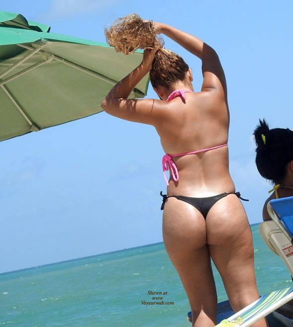 Pic #2 Black Bikini From Recife City, Brazil 01 - Outdoors, Bikini Voyeur, Beach Voyeur
